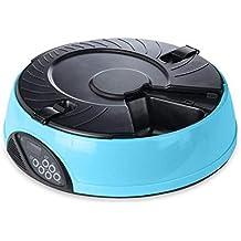 XAJGW Alimentador automático de Mascotas | para Gatos Perros Conejos | con Temporizador y grabadora de