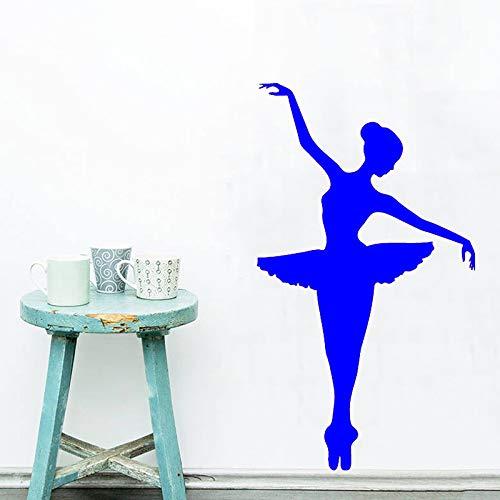 zhuziji Wandtattoo Elegantes Ballett Moderne Wandaufkleber Für Kinderzimmer Mode Ballerina Mädchen Schlafzimmer Kinderzimmer Wohnkultur Mu 888-2 51x89 cm Floyd Shell