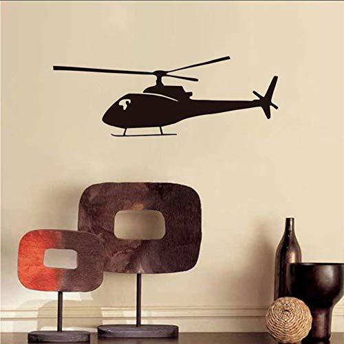 Wuyyii 59X21 Cm Militärischen Stil Hubschrauber Silhouette Wandaufkleber Cool Home Art Decor Vinyl Wandtattoos Für Kinderzimmer