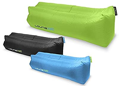 Loungair Luxury Inflatable Lounger - Lounger Air Bed - Easy Air Filling - Ideal For Lounging, Camping, Beach, Park and Festivals - Ripstop Polyester is Strong and Tear Resistant - Inflates In Seconds - cheap UK light store.