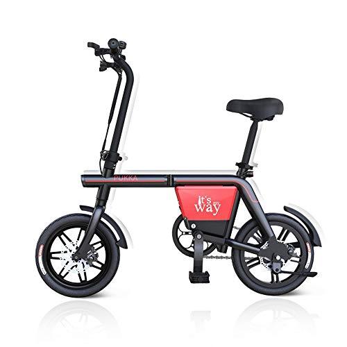 Bicicletta elettrica da Donna, E-Bike Pieghevole da Uomo 48V 4AH Staccabile Batteria New Mini Bicicletta elettrica Pieghevole per Bambini,14in