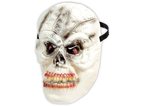 Alsino Halloween Maske Zombie Spooky Mask Horrormaske Gruselmaske, Variante wählen:P973007 Monster beige