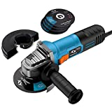 Angle Grinder 860W Tilswall 4-1/2-inch Side Disc Grinder 12000RPM Tool with 3 Cutting