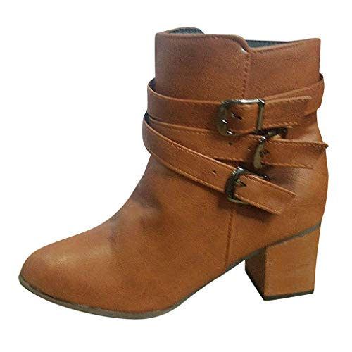 Sanahy Schuhe Mode Stiefeletten Stiefeletten Damen Krawatte Spitzenriemen High Heel Stiefeletten Gürtelschnalle