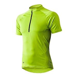 INBIKE Men's Cycling Jersey Summer Bike Clothing Short Sleeve MTB Cycling Bike (Green, XXXL)