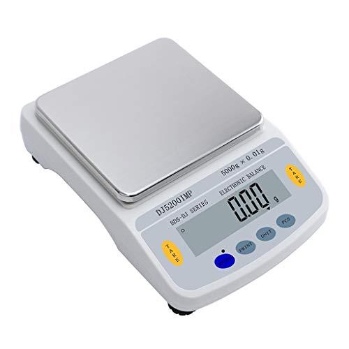 Bilancia Digitale Scale di Gioielli 5 kg 0,01 G Alta Precisione Analitico Conteggio LCD Retroilluminato Laboratorio Multifunzione Bilancia (Capacity : 5kg/0.01g)