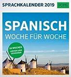 Sprachkalender - Spanisch Woche für Woche - Kalender 2019 - PONS-Verlag - Wochenkalender - 17,6 cm x 16,2 cm