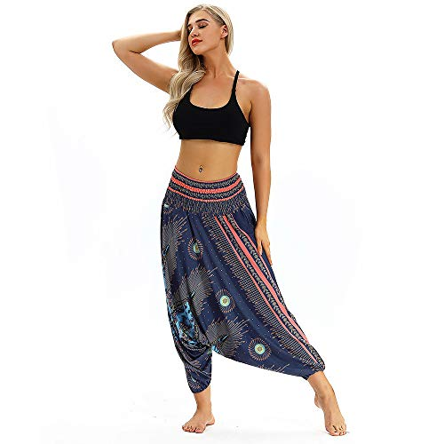 ig Lose Yoga Hosen Ausgebeult Boho Aladdin Overall Haremshose ()