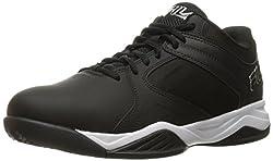Fila Mens Bank Basketball Shoe, Black/Black/White, 11 M US