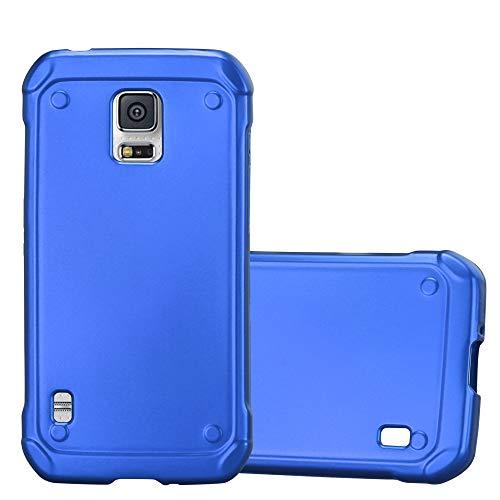 Cadorabo Hülle für Samsung Galaxy S5 Active - Hülle in METALLIC BLAU - Handyhülle aus TPU Silikon im Matt Metallic Design - Silikonhülle Schutzhülle Ultra Slim Soft Back Cover Case Bumper (Active Für Skin Galaxy S5)
