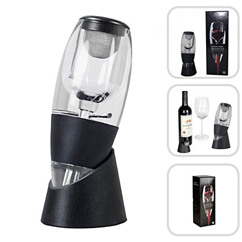 Magic decanter - supporto e aeratore per vino rosso