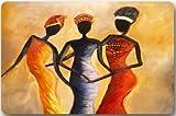 Fsrkje Afro American Women Fußmatte, Fußmatte, Neopren, Rutschfeste Unterseite, maschinenwaschbar