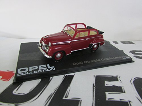 Opel Olympia Cabrio-Limousine, dkl.-rot (ohne Magazin) , 1951, Modellauto, Fertigmodell, SpecialC.-40 1:43 -