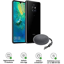 "Huawei Mate 20 (Black) Smartphone + Speaker Bluetooth, 128 GB+4GB RAM, Display 6.53"" Full HD+, Processore Octa Core dinamico con Intelligenza Artificiale [Versione Italiana]"