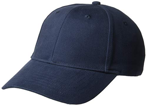 UltraClubs Herren ULTC-8110-Classic Cut Brushed Cotton Twill Constructed Cap, Navy One Size Brushed Cotton Twill Cap