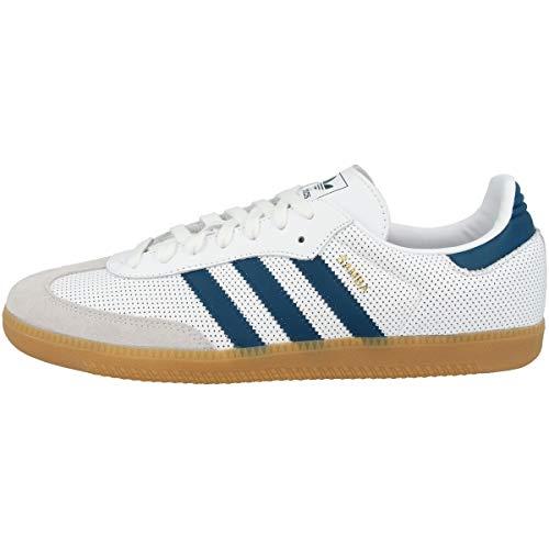 adidas Herren Samba OG Sneaker, Weiß (Footwear White/Legend Marine/Grey One 0), 44 EU