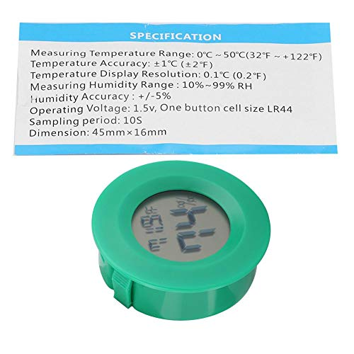 Mini Rund Thermometer-Hygrometer-Luftfeuchtigkeit-Temperatur-Messgerät HH
