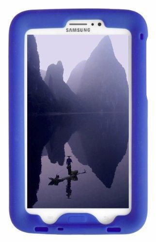 Tablet Lite Samsung 4g Case (Bobj Silikon-Hulle Heavy Duty Tasche fur Samsung Galaxy Tab 3 7-inch Tablet, WiFi und 3G 4G modelle. Auch für Tab3 Kinder Ausgabe. (Nicht fur Tab3 Lite, Tab2) - BobjGear Schutzhulle (Blau))