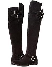 SONGYUNYANEuropeo larga gamuza de caballero-botas botas de moda mujer , black , 44