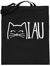 d0caa04965ad6 Chorchester Miau Ideal Für Alle Katzen und Tier Fans - Jutebeutel (mit  langen Henkeln)
