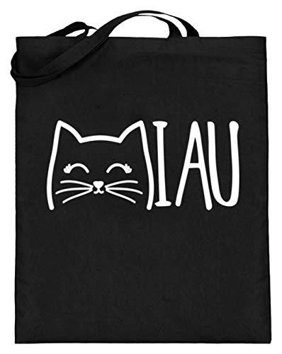 Chorchester Miau Ideal Für Alle Katzen und Tier Fans - Jutebeutel (mit langen Henkeln)...