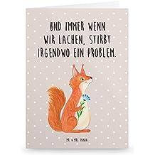 Grußkarte Grusskarte Postkarte Karte Glück Eichhörnchen