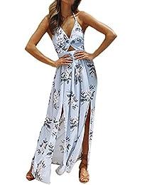 Homebaby® Lunghi Vestito Donna Eleganti Chiffon - Vintage Estivi Vestiti  Casual Donna - Sexy Gonna Abito Maxi Abiti Formale Vestiti Estate… ed3a899f080