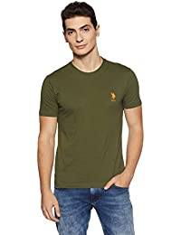 a68cb3b326 US Polo Association Athleisure Men's Solid Regular Fit T-Shirt (I633-179-