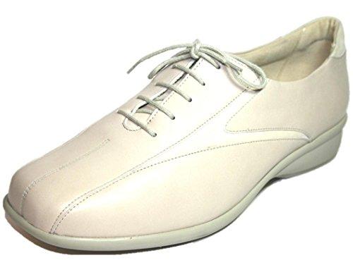 SOLIDUS  Mary Therapo, Chaussures de ville à lacets pour femme Beige - Beige (Creme)
