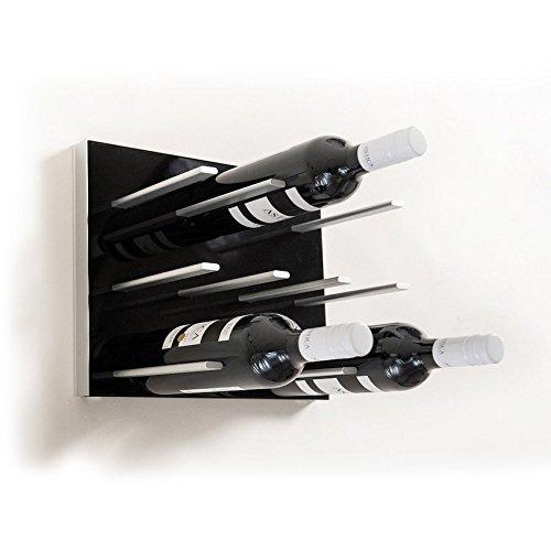stact modernes Wandtattoo Wein Rack von Vino Grotte piano black