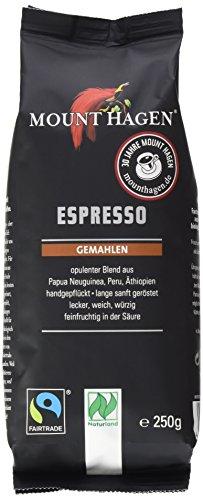 Mount Hagen Espresso gemahlen FairTrade, Naturland, 2er Pack (2 x 250 g) - Bio