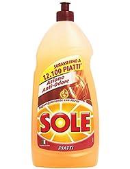 Sole Detersivo Piatti, Azione Anti-Odore, Supersgrassante con Aceto - 1.1 Litri