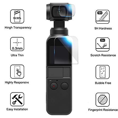 6PCS Display schutzfolie für DJI OSMO Pocket, Explosionsgeschützte TPU-Displayschutzfolie Ultra Clear Film Full Coverage