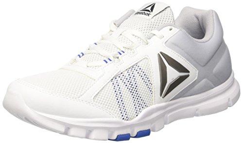 Reebok Yourflex Train 9.0 Mt, Scarpe Sportive Intérieur Uomo Bianco (blanc    Bleu Vital. Chaussures ... 3b4c372162e