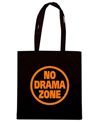 T-Shirtshock - Borsa Shopping FUN0311 15o no drama zone decal 96394 Nero