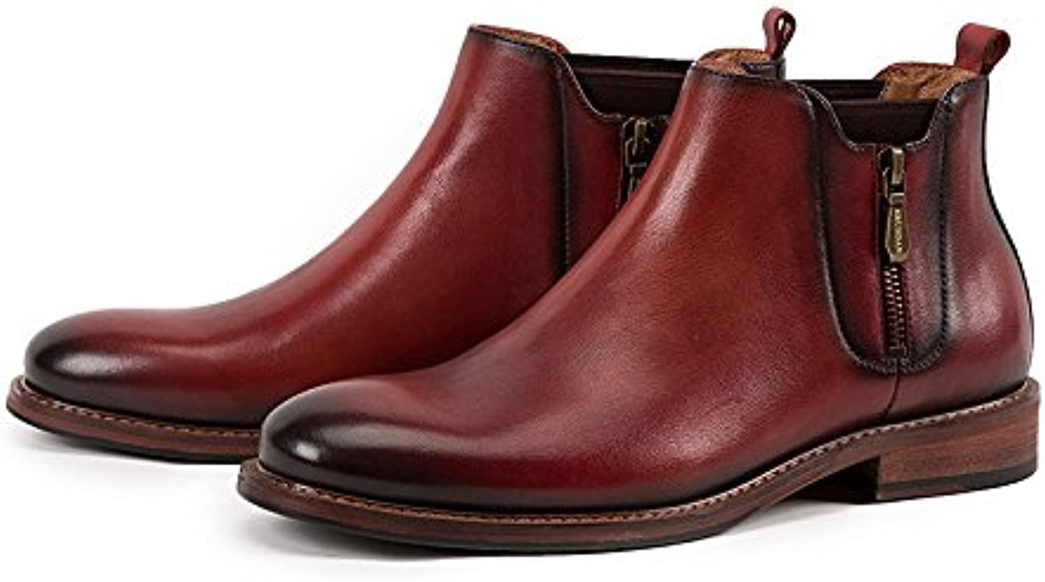 Británico Casual Chelsea Boots Botines Cremallera Lateral Hombres Martin Boots  -