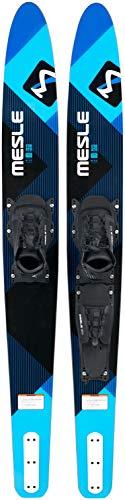 MESLE Comboski Strato 170 cm Pro Blue mit B6 Boot-Bindung, Wasser-Ski bis 120 kg, für Fortgeschrittene und ambitionierte Slalom-Ski Fahrer, blau -