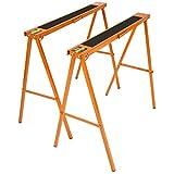 Timbertech 2er-Klappbock-Set bis 250 kg belastbar Klappbock Bock mit rutschfester Gummiauflagefläche Werkstattbock