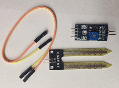 6 Stk. YL-69 sensor module mit LM393 comparator, Boden Hygrometer Luftfeuchtigkeit Erkennung Feuchtigkeit Wasser-Sensor-Modul for Arduino, SUHDAC