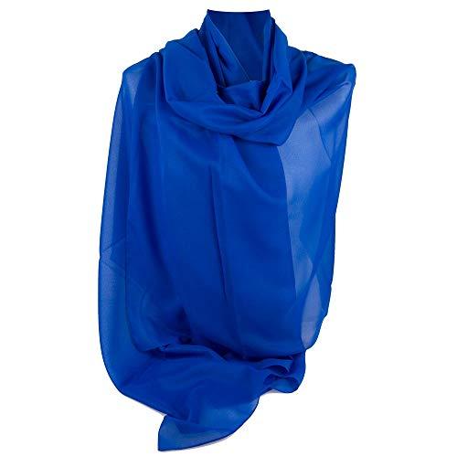 8280da655 Emila Stola blu elettrico donna cerimonia coprispalle elegante estivo foulard  scialle grande da matrimonio per abito