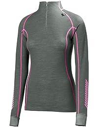 Helly Hansen W HH Warm Freeze 1/2 Zip - Camiseta para mujer, color gris, talla L