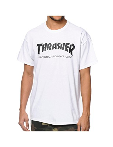 Thrasher Skate Mag Short Sleeve M-White/Black T-Shirt by Thrasher Magazine