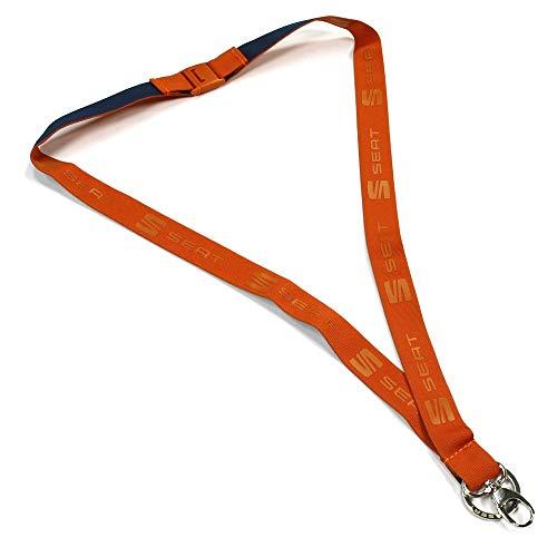 Seat 6H2087610GAH Cordon Tour de Cou pour Porte-clés Cup Racer Orange