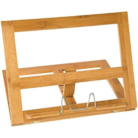 Wedo 2113107 - Soporte de libro de bambú, marrón