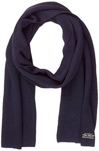 TOM TAILOR Herren Schal Structured Scarf Blau (Knitted Navy 6800), One Size