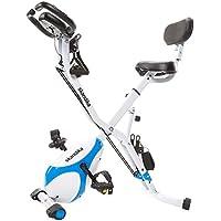 Preisvergleich für skandika Foldaway X-1000 lite/X-2000 /X-3000 Fitnessbike Heimtrainer X-Bike F-Bike Klappbar mit Handpuls-Sensoren - Ergometer - Hometrainer - Faltbares Fitness-Fahrrad