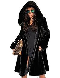 46332ea4d0b2f Roiii Women Coat Winter Hood Parka Ladies Casual Long Jacket Plus Size 8-20