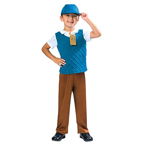 Evacuee Dress Kostüm Fancy Boy - WW2 Evacuee Boys Fancy Dress World War II Book Day Week Childrens Kids Costume (Age 7-8 Years)