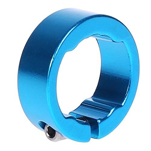 Ranuw Fahrrad Griffe Ring 8/12mm Aluminium End Lock Ringe MTB Lenker Bike Teile, Blau, 8 mm -