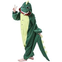 brlmall pijama Unisex Animal Kigurumi Cosplay Costume Slumber Party pijama para adultos multicolor Dinosaurio X-Large